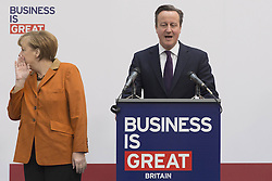 61192451<br /> Chancellor Angela Merkel and David Cameron during CeBIT 2014 Technology Trade Fair, Hanover, Germany, Monday, 10th March 2014. Picture by  imago / i-Images<br /> UK ONLY