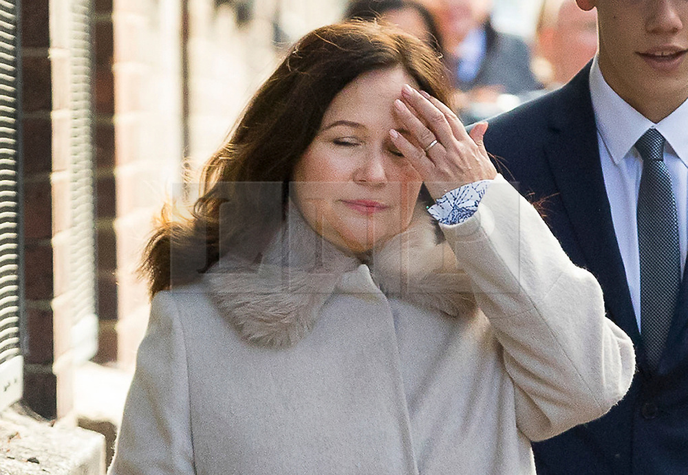 © Licensed to London News Pictures. 28/09/2018. London, UK. Tanya Ednan-Laperouse arrives at West London Coroner's Court this morning for the inquest into the death of Natasha Ednan-Laperouse. Natasha Ednan-Laperouse, aged 15, died on a British Airways flight to from London to Niece, when she fell ill after eating a Pret a Manger sandwich believed to contain sesame.  Photo credit: Vickie Flores/LNP