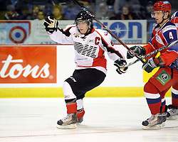 Ryan Ellis helped Team OHL to a 2-1 shootout win over Russia in Game 4 of the SUBWAY Super Series in Sudbury, ON on Monday Nov. 15, 2010.  Photo by Aaron Bell/OHL Images