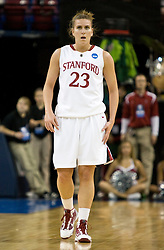 March 29, 2010; Sacramento, CA, USA; Stanford Cardinal guard Jeanette Pohlen (23) during the first half against the Xavier Musketeers in the finals of the Sacramental regional in the 2010 NCAA womens basketball tournament at ARCO Arena. Stanford defeated Xavier 55-53.