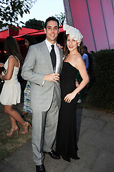 MAXIM CREWE and his wife CHARLOTTE DELLAL at the annual Serpentine Gallery Summer party this year sponsored by Jaguar held at the Serpentine Gallery, Kensington Gardens, London on 8th July 2010.  2010 marks the 40th anniversary of the Serpentine Gallery and the 10th Pavilion.
