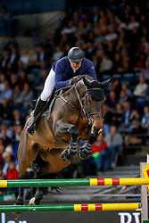 Mathy Francois Jr, BEL, Uno de La Roque<br /> Stuttgart German Masters 2017<br /> © Hippo Foto - Stefan Lafrentz