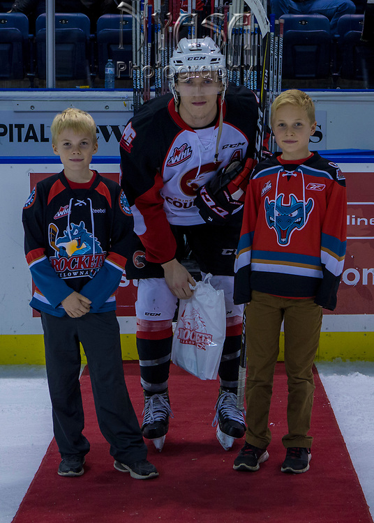 KELOWNA, CANADA - OCTOBER 28:  Third Star of the Game Brogan O'Brien #15 of the Prince George Cougars at the Kelowna Rockets game on October 28, 2017 at Prospera Place in Kelowna, British Columbia, Canada.  (Photo By Cindy Rogers/Nyasa Photography,  *** Local Caption ***