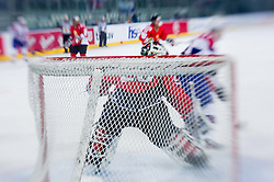 Goalkeeper of Hungary Bence Balizs during ice-hockey match between Slovenia and Hungary at IIHF World Championship DIV. I Group A Slovenia 2012, on April 18, 2012 in Arena Stozice, Ljubljana, Slovenia.  (Photo by Vid Ponikvar / Sportida.com)