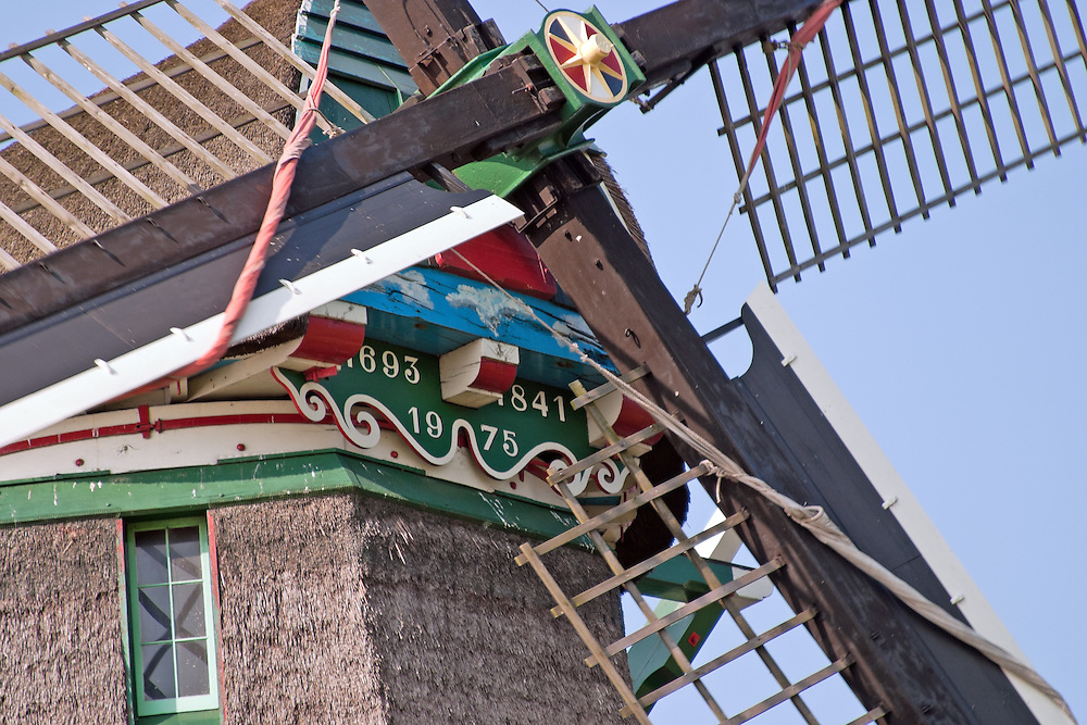 Built in 1693 and rebuilt in 1975, this windmill is one of several open to visitors at the open-air historial museum called Zaanse Schans, an easy day trip from Amsterdam.