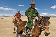 Mongolia. nomads cattle breeders near Bayanchandmani village <br /> / eleveurs nomade dans la steppe pres de Bayanchandmani  Mongolie
