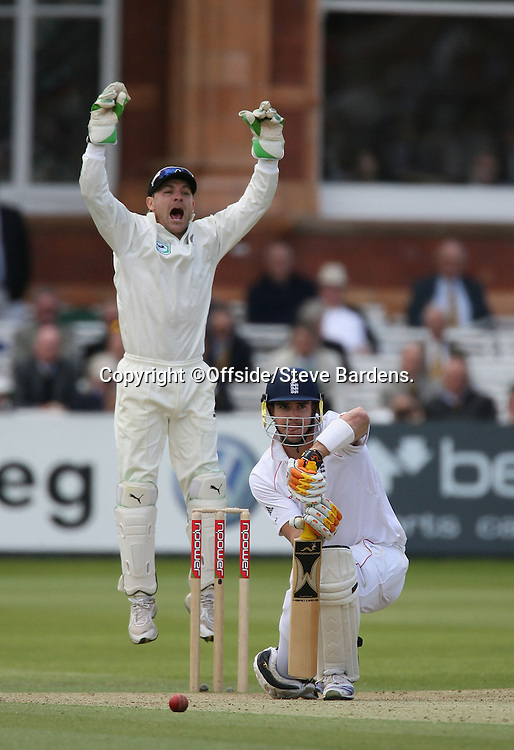 New Zealand wicketkeeper, Brendon McCullum jumps for joy as Kevin Pietersen is out lbw. England v New Zealand, Day 4, 1st Npower Test, Lord's Cricket Ground, St.Johns Wood, London. 18 May 2008. Photo: Offside/PHOTOSPORT