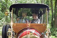 "9 July, 2008. Doylestow, PA. Jim Grundy, 54, and his mother Patricia sit in the 1909 Pierce Arrow antique car Jim owns. Patricia Grundy sat in the back seat of this car at the age of 16, when her parents drove from Philadelphia to Detroit to participate at the Glidden Tour.  Jim Grundy is the chief executor of Grundy Worldwide, an insurance company for collectible cars. His father Jim Sr. Jr. started the business in 1947 and wrote the first antique car insurance policy in 1949. Jim Grundy has been in the business for 28 years and assumed major interest and the presidency 19 years ago. ""I own the best pre World War I cars ever manufactured"", Mr. Grundy says. <br /> <br /> ©2008 Gianni Cipriano for The Wall Street Journal<br /> cell. +1 646 465 2168 (USA)<br /> cell. +1 328 567 7923 (Italy)<br /> gianni@giannicipriano.com<br /> www.giannicipriano.com"