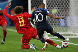 July 10, 2018 - SãO Petersburgo, Rússia - SÃO PETERSBURGO, MO - 10.07.2018: FRANÇA X BÉLGICA - Marouane Fellaini and Kylian Mbappe during the match between France and Belgium valid for the semifinal of the 2018 World Cup, held at the Krestovsky Stadium in St Petersburg, Russia. (Credit Image: © Ricardo Moreira/Fotoarena via ZUMA Press)