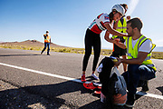 De ochtendruns op de zesde racedag. In Battle Mountain (Nevada) wordt ieder jaar de World Human Powered Speed Challenge gehouden. Tijdens deze wedstrijd wordt geprobeerd zo hard mogelijk te fietsen op pure menskracht. De deelnemers bestaan zowel uit teams van universiteiten als uit hobbyisten. Met de gestroomlijnde fietsen willen ze laten zien wat mogelijk is met menskracht.<br /> <br /> In Battle Mountain (Nevada) each year the World Human Powered Speed Challenge is held. During this race they try to ride on pure manpower as hard as possible.The participants consist of both teams from universities and from hobbyists. With the sleek bikes they want to show what is possible with human power.