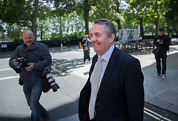 © Licensed to London News Pictures. 05/07/2016. London, UK. Dr Liam Fox MP is seen near Parliament ahead of tonight's first round of voting in the Conservative Party leadership race. Photo credit: Peter Macdiarmid/LNP
