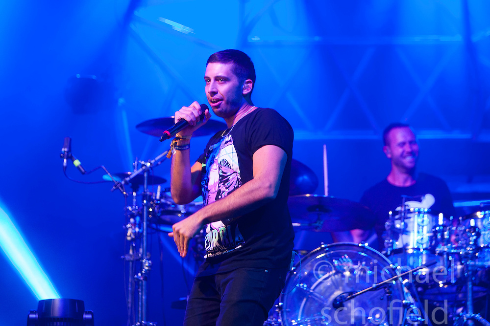 """Example headlines the main stage on Saturday night. Rockness 2013, the annual music festival which took place in Scotland at Clune Farm, Dores, on the banks of Loch Ness, near Inverness in the Scottish Highlands. The festival is known as """"the most beautiful festival in the world"""" ."""
