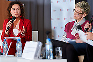 Warsaw, Poland - 2017 April 07: (L) Magdalena Petryniak - President of Story Seekers Polska speaks during The Day of Health - science conference in the National Library on April 07, 2017 in Warsaw, Poland.<br /> <br /> Mandatory credit:<br /> Photo by © © Adam Nurkiewicz / Mediasport / Mediasport<br /> <br /> Picture also available in RAW (NEF) or TIFF format on special request.<br /> <br /> Any editorial, commercial or promotional use requires written permission from the author of image.<br /> <br /> Adam Nurkiewicz declares that he has no rights to the image of people at the photographs of his authorship.