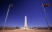 The war memorial atop Alice Springs' Anzac Hill.