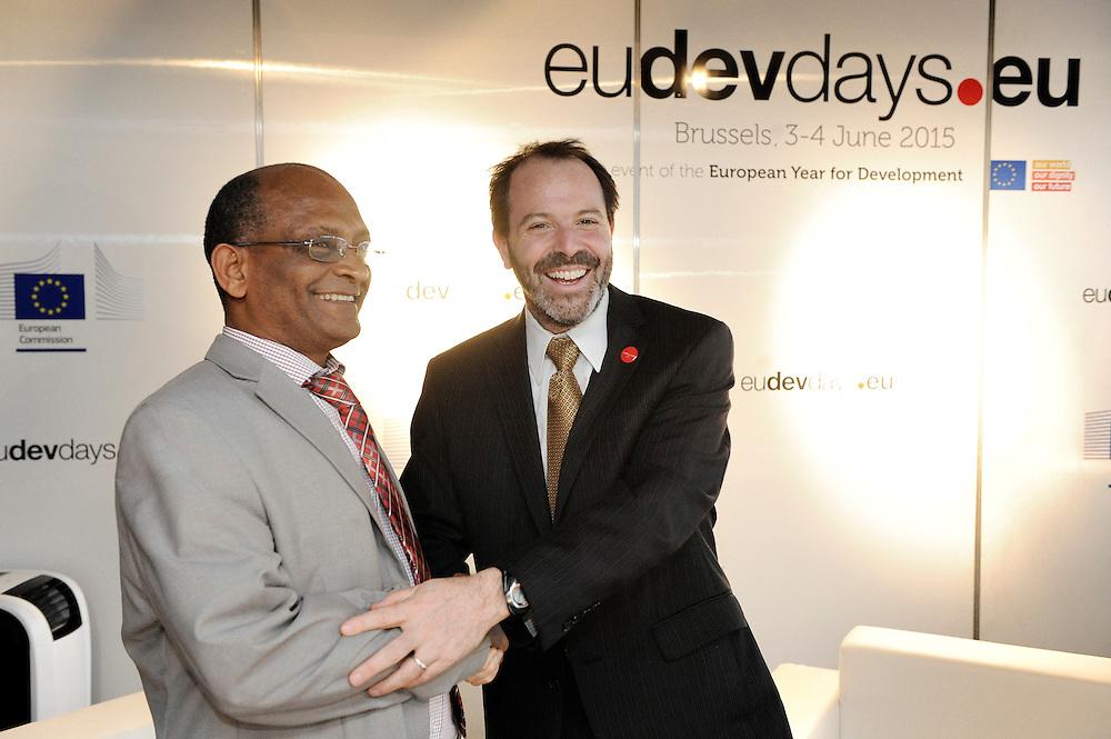 20150604- Brussels - Belgium - 04 June2015 - European Development Days - EDD  - <br /> Alex Thier Usaid and  Belete  Tafere Desta Minister Ethipia &copy; EU/UE