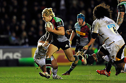 Matt Hopper of Harlequins goes on the attack - Photo mandatory by-line: Patrick Khachfe/JMP - Mobile: 07966 386802 17/01/2015 - SPORT - RUGBY UNION - London - The Twickenham Stoop - Harlequins v Wasps - European Rugby Champions Cup