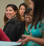 Ana Cantu listens to the discussion during the New and Emerging Leaders Institute, July 15, 2014.