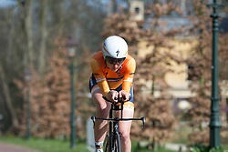 Katarzyna Pawlowska (POL) of Boels-Dolmans Cycling Team focuses on the road ahead during Stage 1a of the Healthy Ageing Tour - a 16.9 km time trial, starting and finishing in Leek on April 5, 2017, in Groeningen, Netherlands.