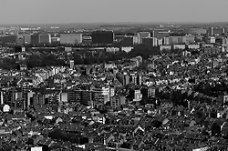 BRUSSELS, BELGIUM - APRIL-04-2007 -  Brussels cityscape and skyline of the Evere neighborhood of Brussels. (Photo © Jock Fistick)