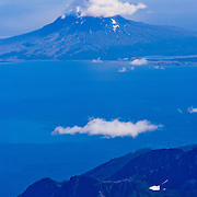 Augustine Volcano in Cook Inlet. North America, United States, US, Northwest, Pacific Northwest, West, Alaska, frontier, last frontier, 49th state,