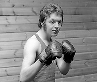 Mick Tohill, aka Michael Tohill, amateur boxer, N Ireland, UK, June 1972, 1972060003448<br /> <br /> Copyright Image from Victor Patterson, 54 Dorchester Park, Belfast, UK, BT9 6RJ<br /> <br /> t1: +44 28 9066 1296 (from Rep of Ireland 048 9066 1296)<br /> t2: +44 28 9002 2446 (from Rep of Ireland 048 9002 2446)<br /> m: +44 7802 353836<br /> <br /> e1: victorpatterson@me.com<br /> e2: victorpatterson@gmail.com<br /> <br /> The use of any of my copyright images is subject to my Terms & Conditions.<br /> <br /> It is IMPORTANT that you familiarise yourself with them. They are available on my website, victorpatterson.com.<br /> <br /> None of my copyright images may be used on the Internet unless they are visibly watermarked, i.e. © Victor Patterson within the body of the image. Additionally metadata denoting my copyright must NOT be deleted. <br /> <br /> Web use is extra at the then currently recommended NUJ rates.