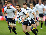 Ruaridh Jackson - Scotlan dfly half breaks down the blind side.<br /> Scotland v Italy, Six Nations Championship, Murrayfield, Edinburgh, Scotland, Saturday 19th March 2010.<br /> Please credit ***FOTOSPORT/DAVID GIBSON***