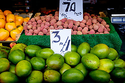 Fruit for sale on a stall in the Bullring Street Market in Birmingham, England, UK<br /> <br /> (c) Andrew Wilson | Edinburgh Elite media