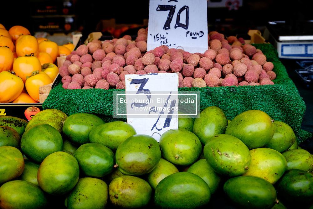 Fruit for sale on a stall in the Bullring Street Market in Birmingham, England, UK<br /> <br /> (c) Andrew Wilson | Edinburgh Elite media