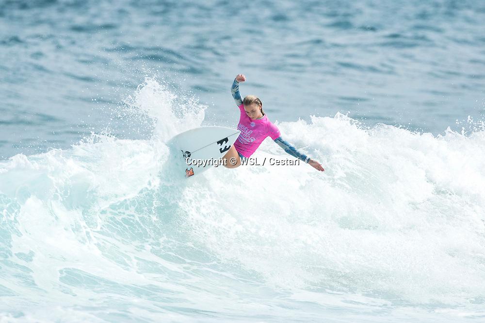 Macy Callaghan of Australia winning Heat 5 of Round One at the World Junior Championship.