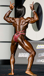 September 15, 2018 - Las Vegas, Nevada, U.S. -  SHERONICA HENTON of the U.S. competes in Women's Physique Olympia during Joe Weider's Olympia Fitness and Performance Weekend 2018.(Credit Image: © Brian Cahn/ZUMA Wire)