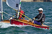 Peter Burling sailing P Class in the Wakatere Junior Regatta 13/12/2003