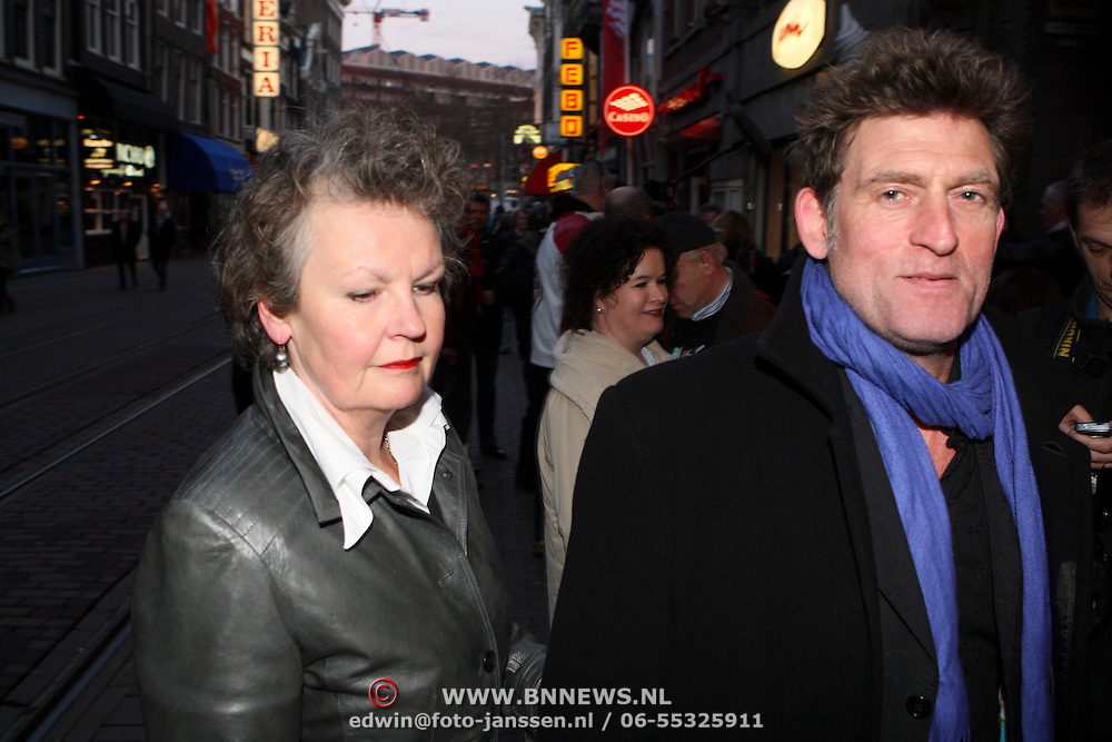 NLD/Amsterdam/20080408 - Premiere Shine A Light, Huib van der Lubbe en partner