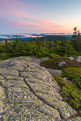 After sunset on Cadillac Mountain in Maine's Acadia National Park.