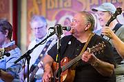 Bryan Gowland Performs with the Steve Anderson Group during the 100th performance of the Abita Springs Opry at Abita Springs Town Hall on September 21, 2019; photo ©2019, George H. Long