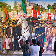 Sufragio efectivo - No reeleccion, by Juan O'Gorman, 1969. Since construction first started around 1785, Chapultepec Castle has been a Military Academy, Imperial residence, Presidential home, observatory, and is now Mexico's National History Museum (Museo Nacional de Historia). It sits on top of Chapultepec Hill in the heart of Mexico City.
