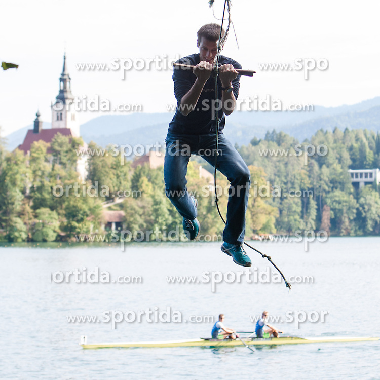 Nik Dolic during rowing at Slovenian National Championship and farewell of Iztok Cop, on September 22, 2012 at Lake Bled, Ljubljana Slovenia. (Photo By Matic Klansek Velej / Sportida)