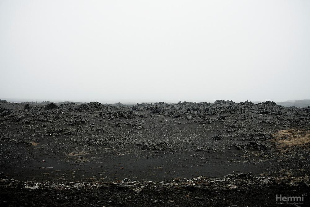 Lunar landscape on Reykjanes penisula