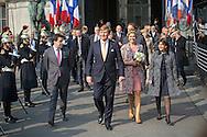 Paris, 11-03-2016<br /> <br /> <br /> King Willem-Alexander and Queen Maxima of The Netherlands visits the Cityhall of Paris <br /> <br />  Photo: Bernard Ruebsamen <br /> <br /> Copyright: Royalportraits Europe/Bernard Ruebsamen