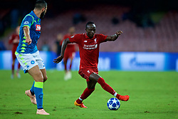 NAPLES, ITALY - Wednesday, October 3, 2018: Liverpool's Sadio Mane during the UEFA Champions League Group C match between S.S.C. Napoli and Liverpool FC at Stadio San Paolo. (Pic by David Rawcliffe/Propaganda)