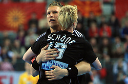 Christian Schone (19) and Lars Kaufmann (21) of Germany during 21st Men's World Handball Championship preliminary Group C match between FYR Macedonia and Germany, on January 21, 2009, in Arena Varazdin, Varazdin, Croatia. (Photo by Vid Ponikvar / Sportida)