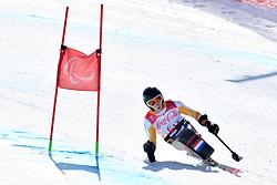 KAMPSCHREUR Jeroen LW12-2 NED competing in ParaSkiAlpin, Para Alpine Skiing, Super G at PyeongChang2018 Winter Paralympic Games, South Korea.