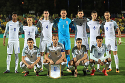 Back row, left to right, England's Marcus Rashford, Kieran Trippier, Michael Keane, Jack Butland, Harry Maguire, John Stones and Jordan Henderson. Front row, left to right, England's Aaron Cresswell, Harry Kane, Harry Winks and Dele Alli before the 2018 FIFA World Cup Qualifying Group F match at the LFF Stadium, Vilnius.