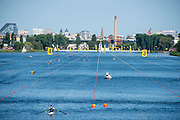 Poznan, POLAND, 22nd June 2019, Saturday, Morning Heats, Views Boat Park,  FISA World Rowing Cup II, Malta Lake Course, © Peter SPURRIER/Intersport Images,<br /> <br /> 07:48:24