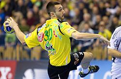 Dragan Gajic (#30) of Celje during the handball match between RK Celje Pivovarna Lasko (SLO) and TWH Kiel (GER) in 4th Round of Velux EHF Men's Champions League, on October 17, 2010 in Arena Zlatorog, Celje, Slovenia.  (Photo By Vid Ponikvar / Sportida.com)