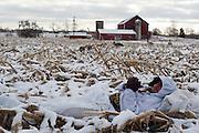 Canada Goose hunting, Branta canadensis, Washtenaw County, Michigan