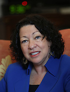 A portrait of Supreme Court (nominee) Judge Sonia Sotomayor,  Photograph by Dennis Brack