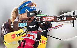 "19.01.2012, Südtirol Arena, Antholz, ITA, E.ON IBU Weltcup, 6. Biathlon, Antholz, Sprint Damen, im Bild Magdalena Neuner (GER) // Magdalena Neuner (GER) during Sprint Women E.ON IBU World Cup 6th, ""South Tyrol Arena"", Antholz-Anterselva, Italy on 2012/01/19, EXPA Pictures © 2012, PhotoCredit: EXPA/ Juergen Feichter"