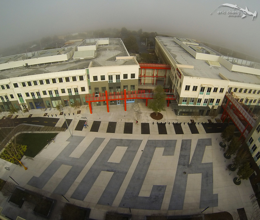 HACK courtyard at Facebook Headquarters