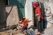 25 year-old Sapana Balami and her four year-old daughter, Aanchal Balami, now have access to a latrine near their home