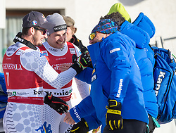 28.12.2018, Stelvio, Bormio, ITA, FIS Weltcup Ski Alpin, Abfahrt, Herren, Siegerehrung, im Bild v.l. Dominik Paris (ITA, 1. Platz), Christof Innerhofer (ITA, 2. Platz) // f.l. race winner Dominik Paris of Italy second placed Christof Innerhofer of Italy during the winner Ceremony for the men's Downhill of FIS Ski Alpine World Cup at the Stelvio in Bormio, Italy on 2018/12/28. EXPA Pictures © 2018, PhotoCredit: EXPA/ Johann Groder